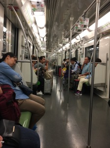 After the mass exodus from the Shanghai subway!