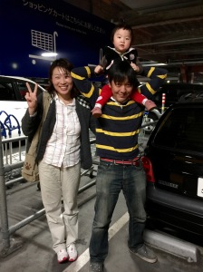 Nayeong, Tsuyoshi, and baby May at Ikea
