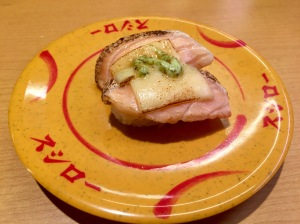 Salmon with cheese and basil sauce!